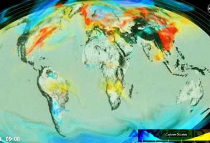 NASA Tampilkan Karbondioksida di Atmosfer - teknologi.metrotvnews.com